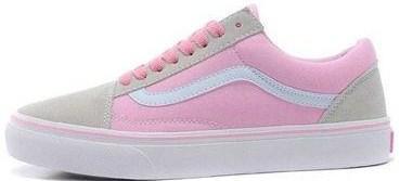 Vans Old Skool Pink Grey   кеды женские вэнс  розовые-серые - BOOT CLUB ad2c368c07b