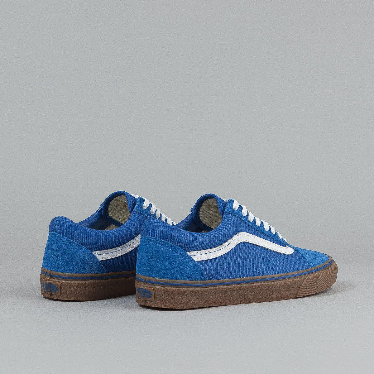 c6995ccd9ab4 ... синие Vans Old Skool Olympian Blue Gum Sole White   кеды женские и  мужские вэнс  ...