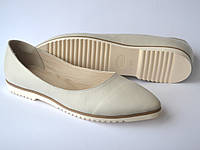 3fb877c08 Балетки кожаные женская обувь больших размеров Gracia V Beige by Rosso  Avangard цвет бежевый