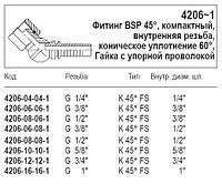 Фитинг BSP 45°, 4206-1