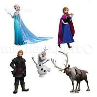 Украшение стены двухслойная Disney страна льда - набор 5 предметов