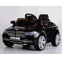 Детский электромобиль МХ1343 BMW на резиновых EVA колёсах, 4 амортизатора, кожа, дитячий електромобіль, чёрный