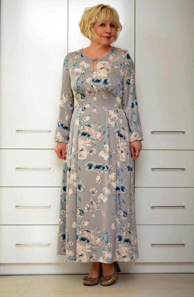Платье макси шелк - Модель 1640 (50р) (ф)