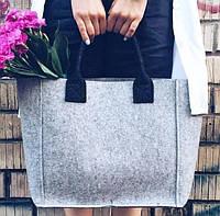 """Жіноча сумка з фетру """"Stylish thing4"""" сумка ручної роботи від української майстерні PalMar, сумка с войлока, фото 1"""