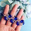 Браслет серебристый Мерцание с синими стразам, фото 2