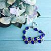 Браслет серебристый Мерцание с синими стразам, фото 3