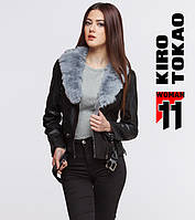 11 Kiro Tokao | Демисезонная женская куртка японская 4826 черный-серый