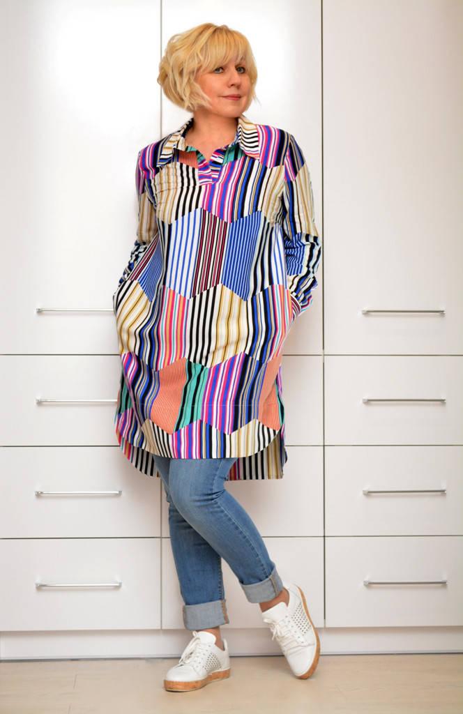 """Блуза-рубашка """"Радуга"""" - Модель 1642-1"""