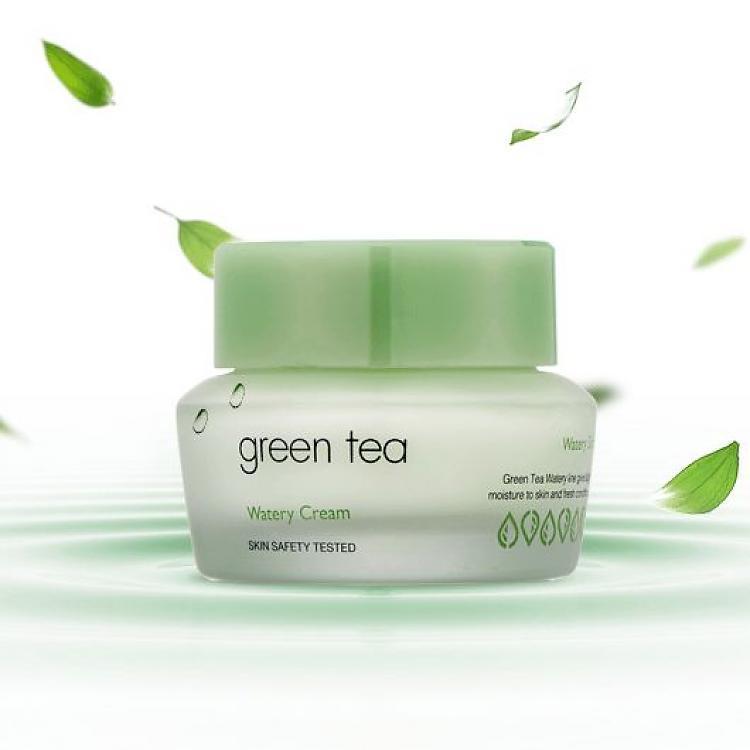 Крем для жирной и комбинированной It's Skin Green Tea Watery Cream