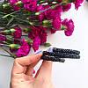 Браслет жесткий в стиле Swarovski черный, фото 2