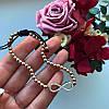 Браслет золотистый в стиле Tiffany с подвеской Бесконечность, фото 2