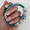Браслет реплика Pandora в голубом, фото 2
