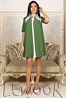 Платье свободного покроя с кружевом