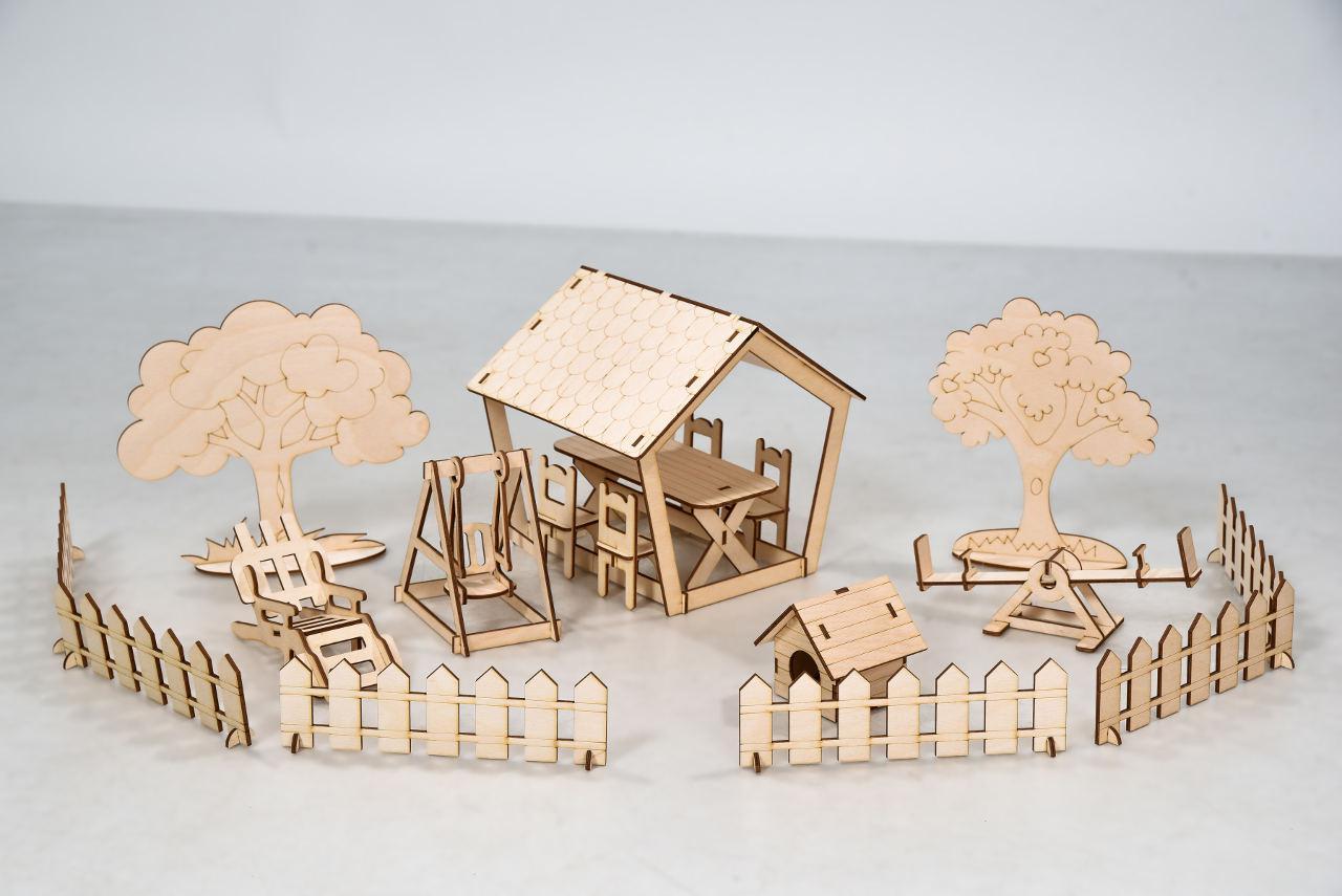 Дворовые постройки FANA для Солнечной Дачи Мебель 18 предметов (1003)