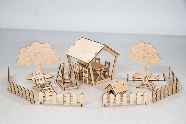 Дворовые постройки FANA для Солнечной Дачи Мебель 18 предметов (1003), фото 2