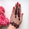 Браслет с красными стразами и темным покрытием Шелли, фото 2