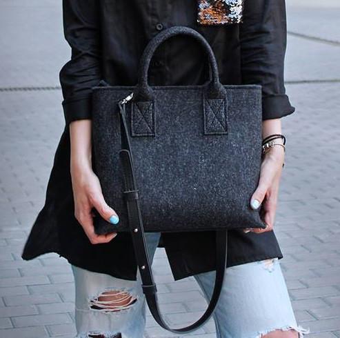 """Жіноча сумка з фетру """"Lady2""""ручної роботи"""