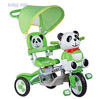 Детский трехколесный велосипед панда, уточка Baby Mix