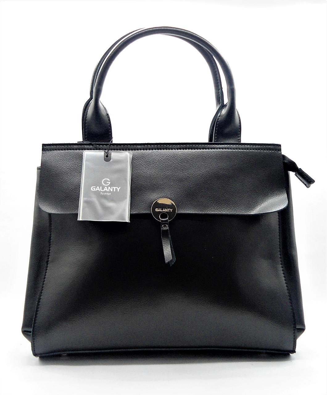 91a1f07e03fb Модная женская сумочка GАLАNTY из натуральной кожи черного цвета MEE-032443  - Интернет- магазин