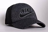 Бейсболка/кепка Nike, серая с черным (надпись с лого), фото 1