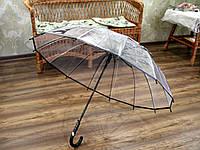 Зонт трость с полупрозрачным куполом
