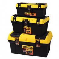 """Ящик для инструмента 12,5"""" желто-черный, металические замки 79-2038"""
