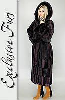 Женская шуба из искусственной норки, фото 1