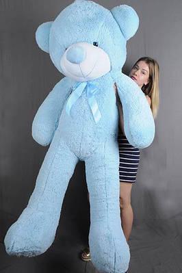 """Плюшевый мишка """"Рафаэль"""", голубой, 180 см."""