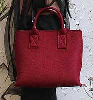 """Жіноча сумка з фетру """"Lady3"""" сумка ручної роботи від української майстерні PalMar, сумка с войлока, фото 1"""