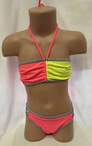 Детский купальник двухцветный, идет на наши 34,36,38,40 размеры, фото 2