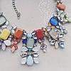 Колье серебристое Конфетка с разноцветными камнями и стразами, фото 2