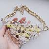Колье золотистое Кристаллы с желтым, фото 2