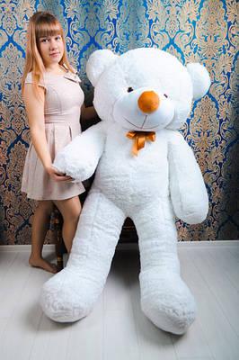"""Плюшевый мишка """"Рафаэль"""", белый, 180 см."""