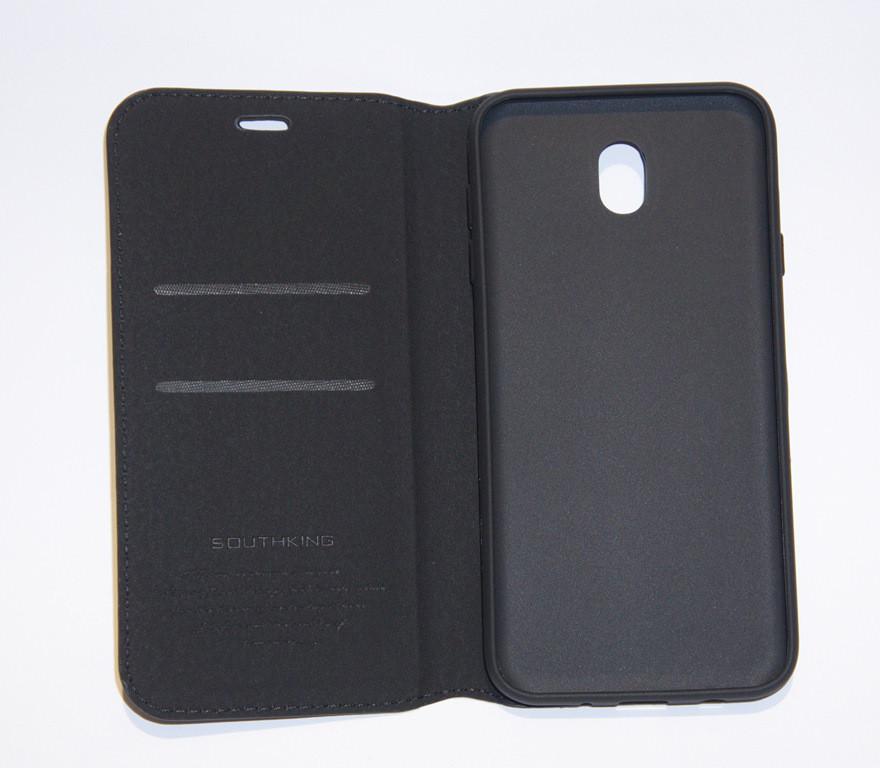 Чехол-книжка для смартфона Samsung J7 2017 J730 чёрная MKA