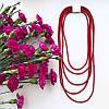 Колье плетенное люриксом Эмма красное, фото 2