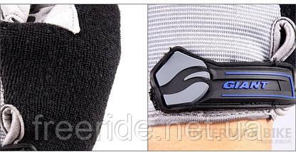 Велоперчатки GIANT целый палец (XL) сер/черные , фото 3