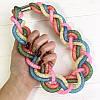 Колье в стиле Svarovski разноцветная косичка, фото 2