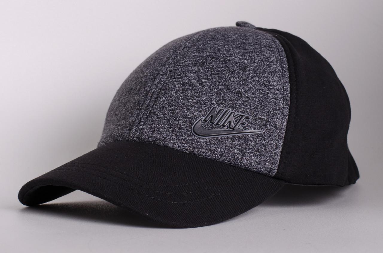 Бейсболка/кепка Nike, серая с черным (маленькая надпись и лого), фото 1