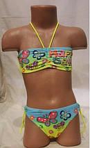 Цветочный купальник для детей и подростков , идет на наши 28 30 32 34 36 размеры., фото 2
