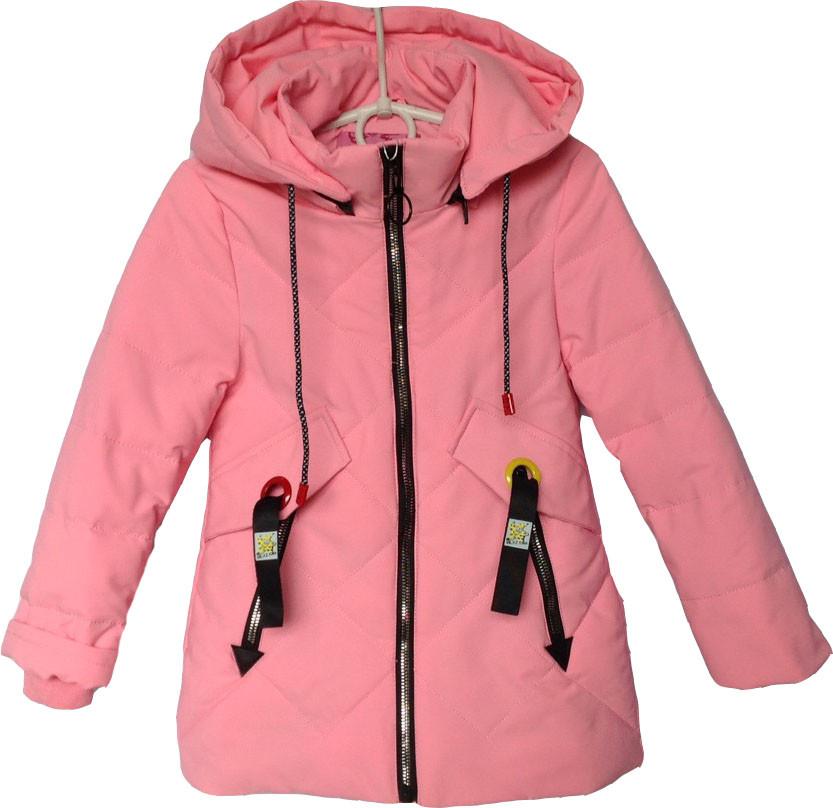"""Куртка детская демисезонная """"OCD"""" #1728 для девочек. 4-5-6-7-8 лет. Розовая. Оптом."""