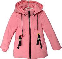 """Куртка детская демисезонная """"OCD"""" #1728 для девочек. 4-5-6-7-8 лет. Розовая. Оптом., фото 1"""