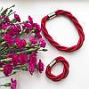 Колье плетеное люриксом Orny красное, фото 3