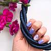 Колье плетеное люриксом Orny синее, фото 2