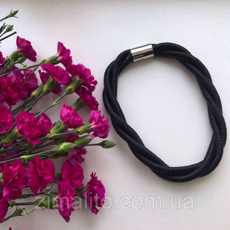 Колье плетеное люриксом Orny черное