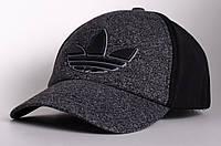 Бейсболка/кепка Adidas, серая с черным, фото 1