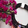 Колье плетенное люриксом Моника черное, фото 2