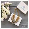 Колье золотистое Fendi со стразами и белыми камнями, фото 2