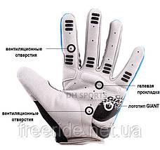 Велоперчатки GIANT целый палец (L) сер/красные , фото 3