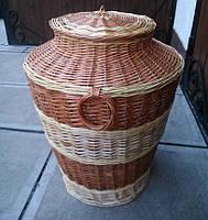 Плетеная бочка для белья, фото 1