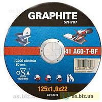 Круг режущая Graphite для металла 125 х 1.6 х 22 мм. 41 A60-t-bf
